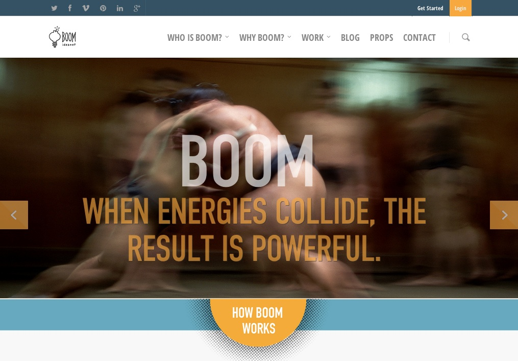 Boom Homepage screen shot